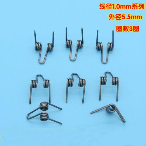 5Pcs 1mm Wire Diameter 5.5mm Outside Diameter Double Torsion Springs 3 Turns