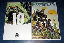 CLUSTER #1 1:10 variant + regular 1st print BOOM STUDIOS COMIC ED BRISSON 2015