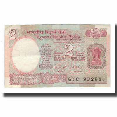 Km:79a Undated Banknote #566998 India 2 Rupees Ef 40-45 1976 Dutiful