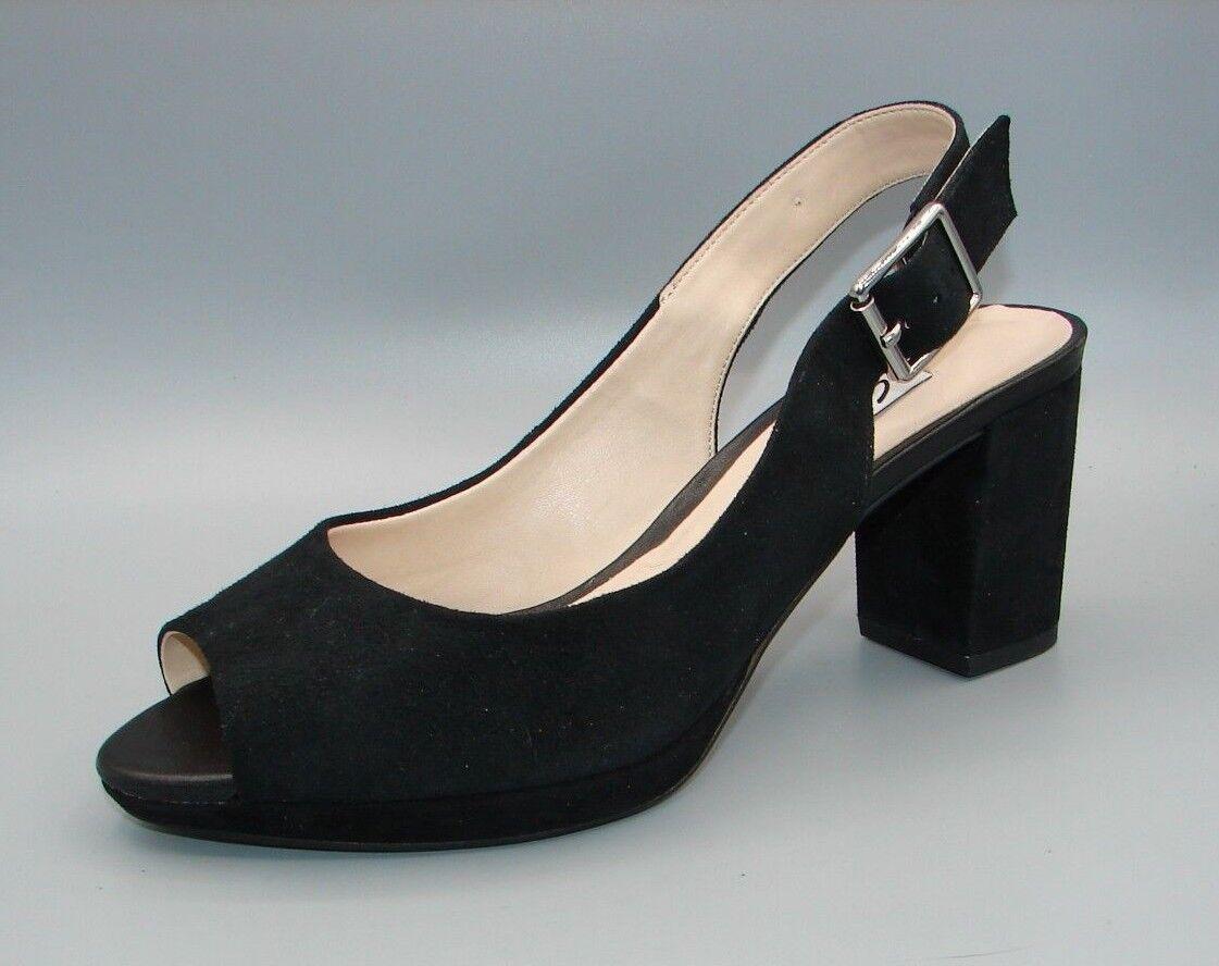 KELDA SPRING Clark's Women's Ladies Black Suede Sandals size UK 5.5 D