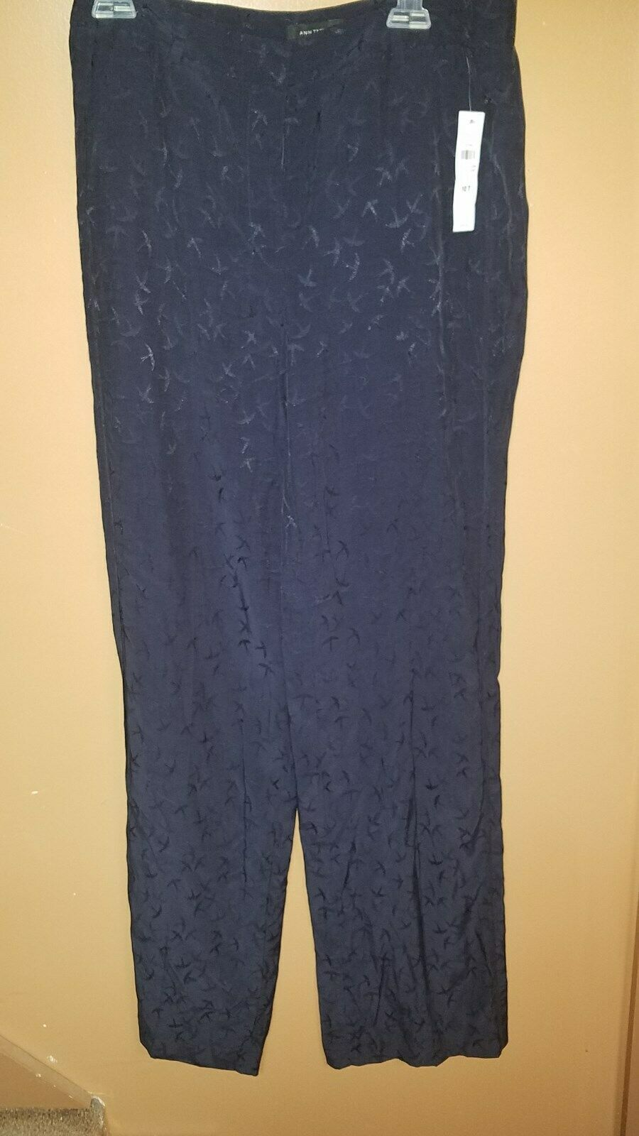 98 Ann Taylor LOFT sz 10 TALL Lounge blueE DESIGN Pants NWT FREE SHIPPING