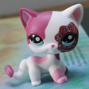 Lps Collection Figure Plum Sparkle Cat Littlest Pet Shop Kitty Rare