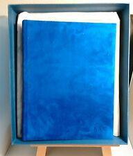"Aspinal of London 12"" Bridle Photo Album Soft Royal Sapphire Blue"