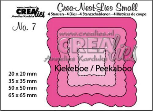 no Crealies Crea-nest-lies small Stanzsch 7 Peekaboo ornament Quadrat 341207