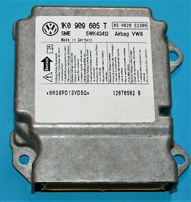 VW POLO 2004 2005 AIR BAG CRASH controllo modulo ecu SENSORE 1C0 909 605 K indice 08