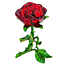 thumbnail 1 - Crystal Red Rose Flower Figurine Craft Collectible Gift For Mothers Day Birthday