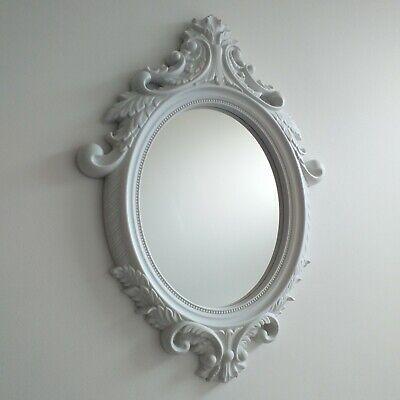 vintage oval ornate wall mirror bathroom girls room hallway french wall mirror
