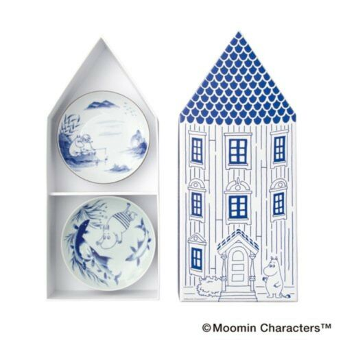 NEW MOOMIN x amabro SOMETSUKE 5 Plates Set Arita Porcelain Made in Japan