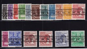 Germany-Sc-600-16-1947-Post-Horn-Overprints-Pictorial-Set-Mint-NH-MNH