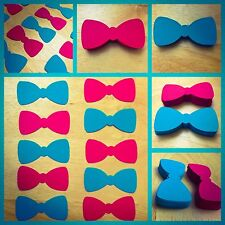 Bow Tie cut outs,bowtie cut outs, baby shower, invitation, various colors