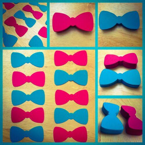 Noeud Papillon Découpes invitation différentes couleurs nœud papillon Découpes baby shower