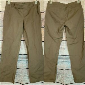 Eddie Bauer Women's fashion Fit Khaki Chino Pants Size 4 Straight Leg shaw EUC