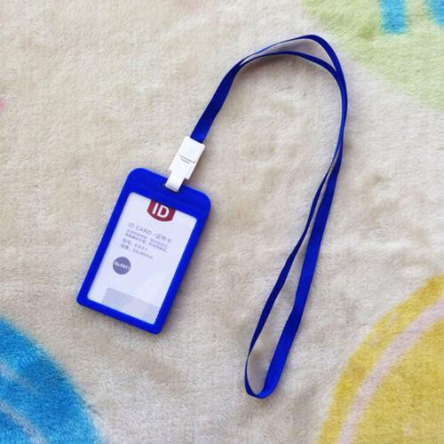Vertikaler Plastik-ID-Namen-Kartenhalter-Arbeits-Abzeichen w Lanyard PPTY B G4