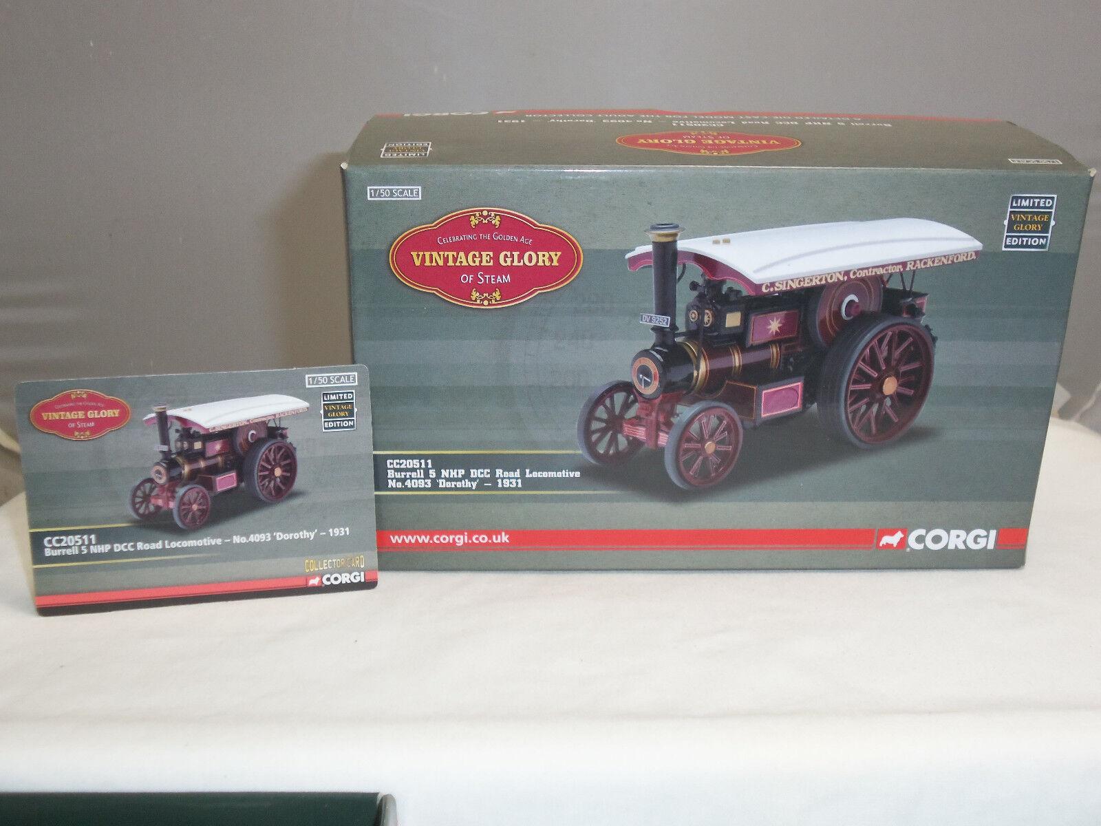 CORGI CC20511 BURRELL STEAM ENGINE DIECAST MODEL DgoldTHY ROAD ROAD ROAD LOCOMOTIVE 827288