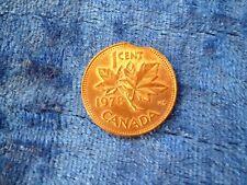 Canada 1 Cent 1978 Clipped Planchet Error EF Lustre