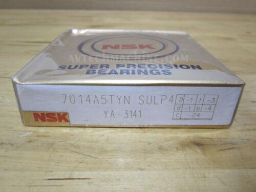 NSK Precision Angular Contact Bearing 7014A5TYNSULP4