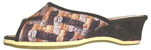 Helmut-Trunte-Damen-Schuhe-Hausschuhe-Pantoffeln-Pantolette-Art-11080-braun
