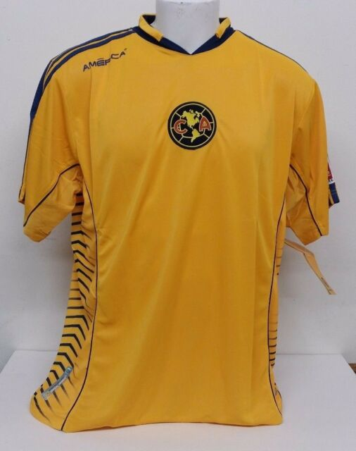 reputable site 362d7 7b527 Club America Aguilas Official Licensed Rhinox Yellow Blue Trim Soccer  Jersey XL
