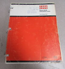 Case W24b Articulated Loader Parts Catalog Manual C1216 1975