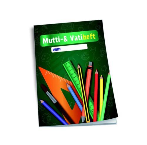 """DIN A6 48 Seiten mit Heftumschlag Vatiheft /""""Tafel/"""" Muttiheft"""