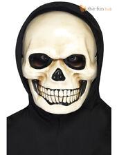 Evil Mens Skull Mask Halloween Skeleton Grim Reaper Fancy Dress Accessory BM519