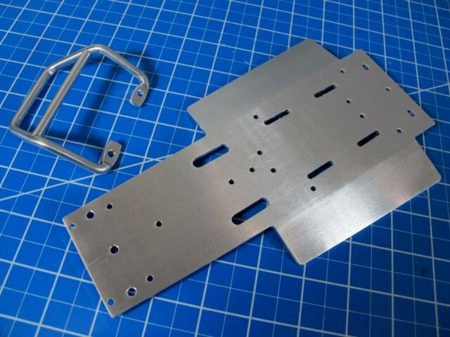 Aluminum Chassis Plate for Tamiya 1//10 RC Sand Scorcher Buggy Champ Fighting