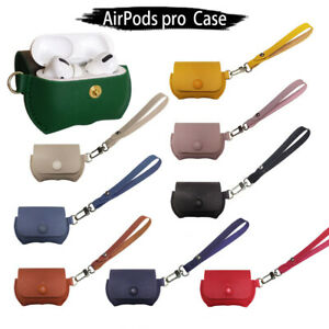 For Airpods Pro 3 2 1 Gen Pu Leather Elegant Charging Buckle