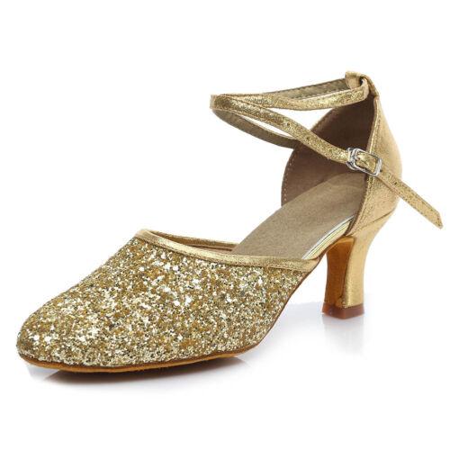 Women Girl lady/'s Ballroom Tango Modern Dance Dancing Shoes heeled Salsa 1802-5