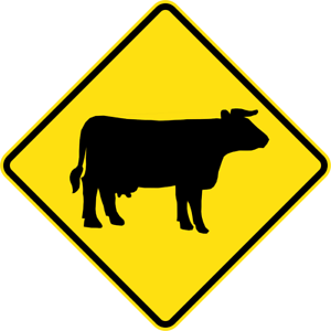 CATTLE-W5-SA63-SELF-ADHESIVE-STICKER-DECAL-SIGN-HEALTH-amp-SAFETY