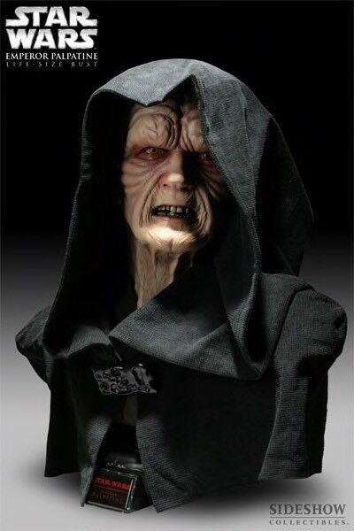 Sideshow Star Wars Emperor Palpatine Bust Life Size 1:1 new sealed  2955