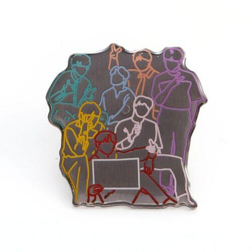 Kpop Esmalte Pin Solapa Pin Insignia de metal Bangtan Boys Broche Kpop Accesorios