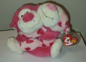 Ty ROMEO & JULIET the Valentine Beanie Baby Monkey Set of 2 - MINT with MINT TAG