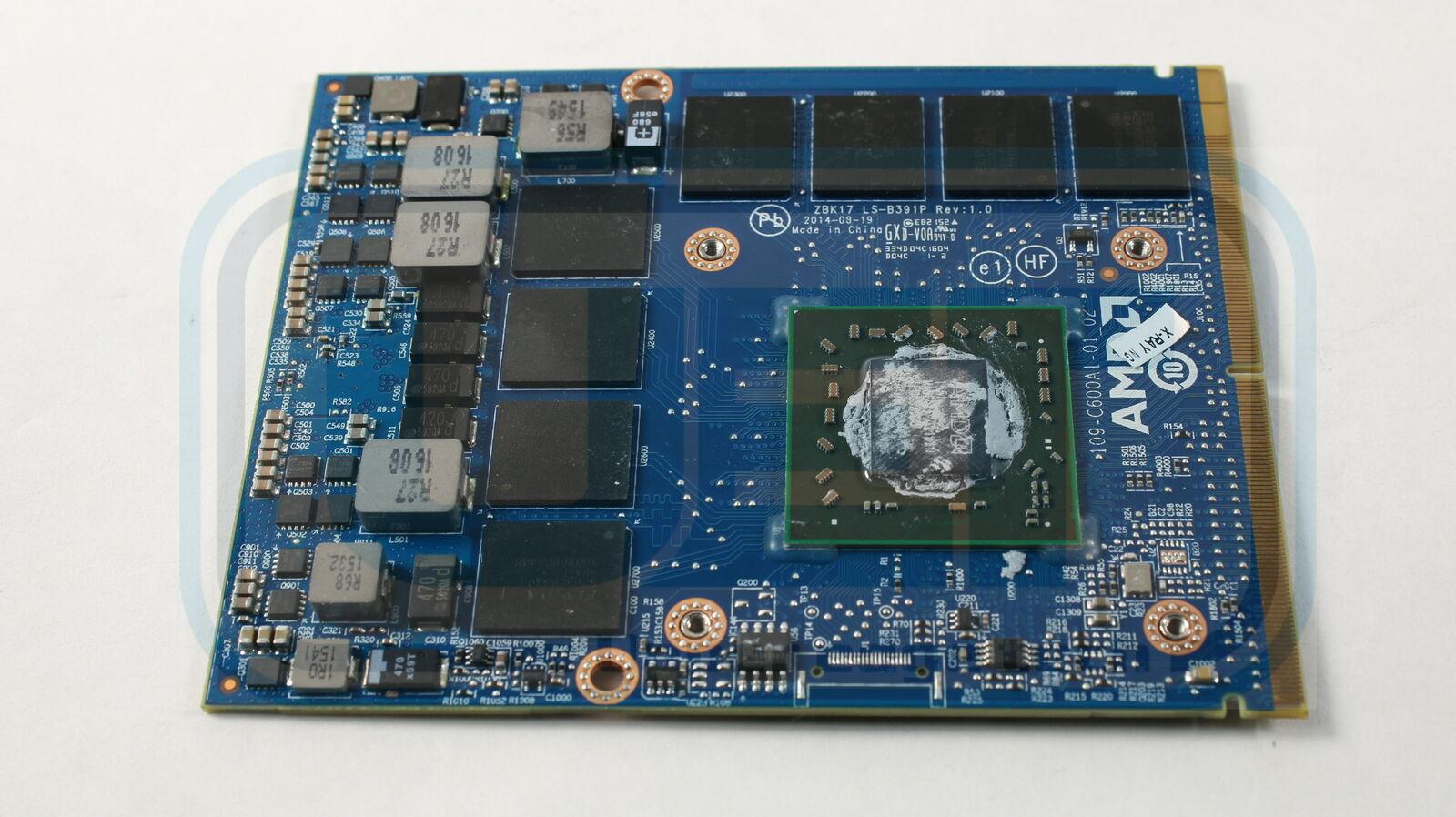HP Zbook 17 G2 Video Graphics Card GPU LS-B391P AMD W6170M 2GB Tested Warranty