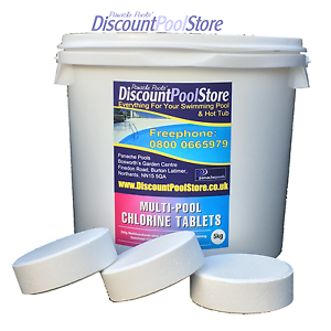 Multi Pool Chlorine Tablets Swimming Pool Spa Tub 5kg Ebay