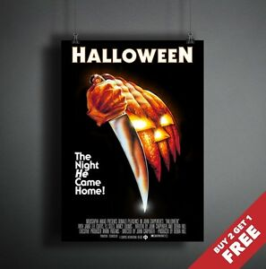Halloween 1978 Movie Poster.Details About Halloween 1978 Movie Poster A3 A4 Michael Myers Classic Horror Thriller Film