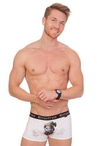 HangOwear Trachten Boxershorts Retropants Herren Lambert Bavaria weiß Baumwolle