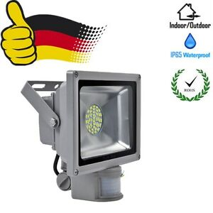 30w led smd fluter mit bewegungsmelder scheinwerfer flutlicht kaltwei ip65 ebay. Black Bedroom Furniture Sets. Home Design Ideas