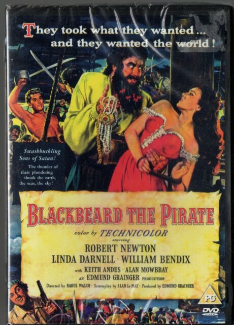BLACKBEARD THE PIRATE Original UK DVD Classic Robert Newton Sealed RARE