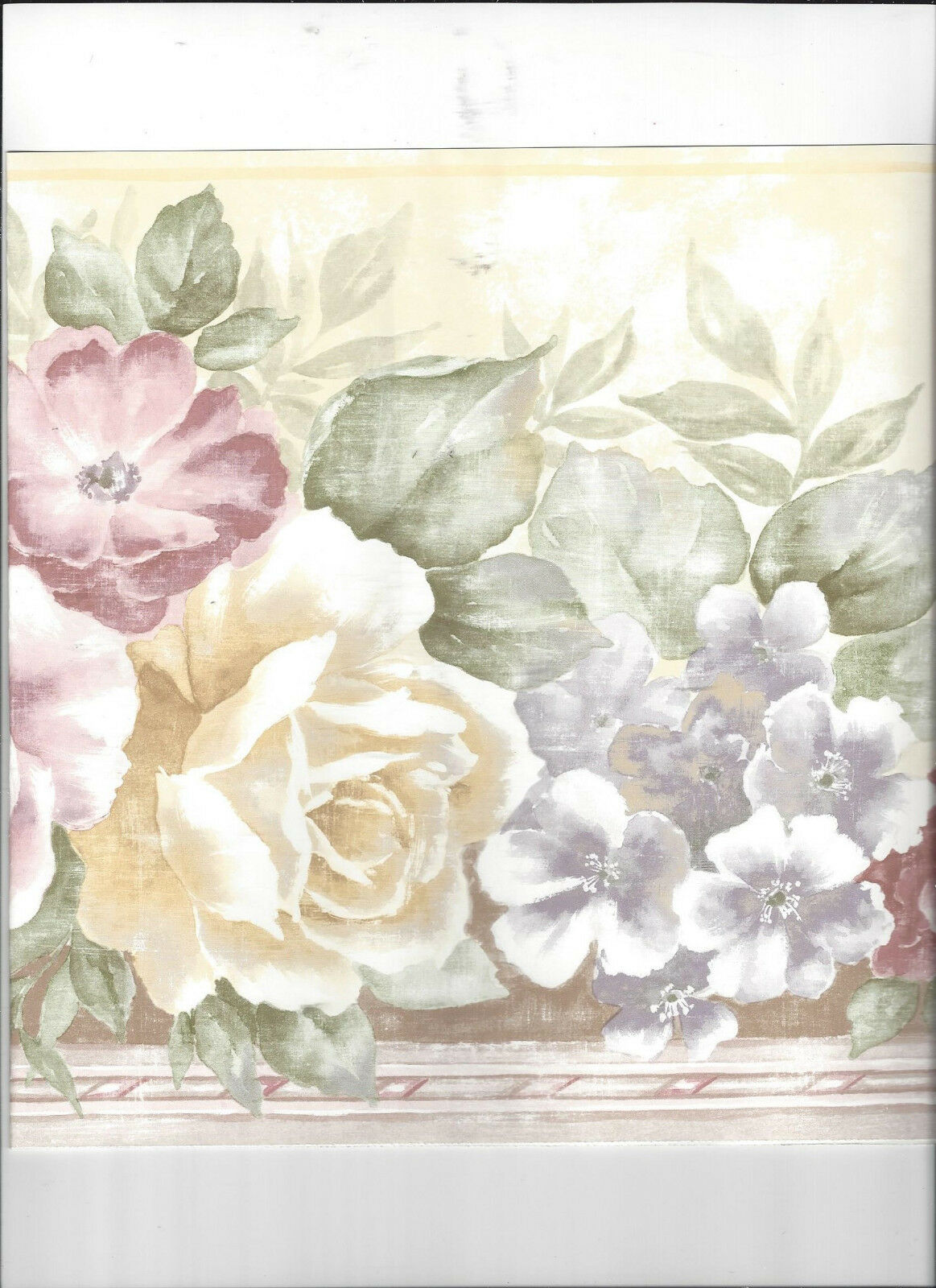 Wallpaper Border Floral Flower Rose Roses New Arrival Classic For