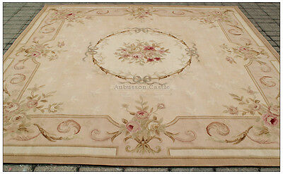 8 2 Quot Square Aubusson Area Rug Antique French Neutral