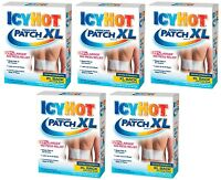 5 Pack Icy Hot Medicated Patch Extra Strength Xl 3 Patches Each on sale