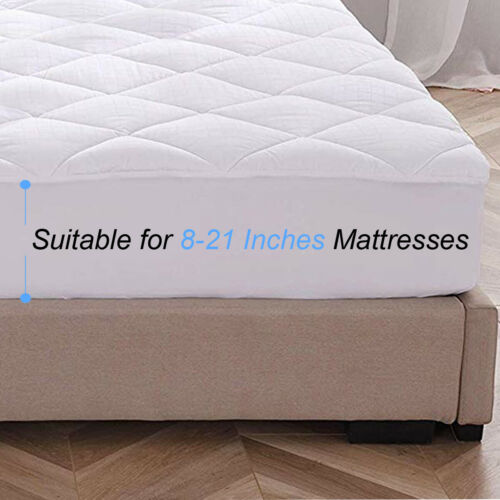 Mattress Pad Cover Cooling Fitted Sheet Topper Quilted Soft Protector Cal King