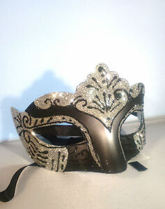 1f0a3e6f3be4 Image is loading Silver-Filigree-Eye-Mask-Masquerade-Ball-Costume-Party-