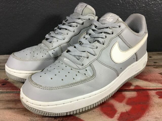 Nike Men's Air Force 1 Low Wolf Grey / White— US Size 8 - Wolf Grey / White