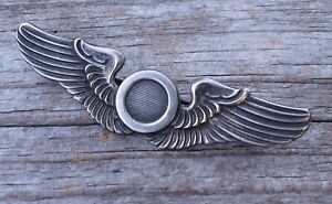 """WWII U.S. Army Combat Observer Garrison Cap Shirt Sterling Silver 2"""" Wings 1941"""