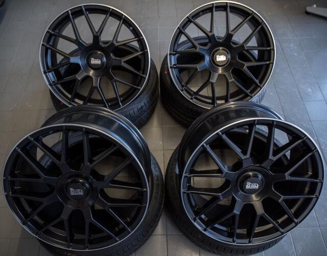 18 Zoll MAM GT1 Felgen 5x112 et45 schwarz für Audi VW Seat GTI S3 Cupra AMG 300