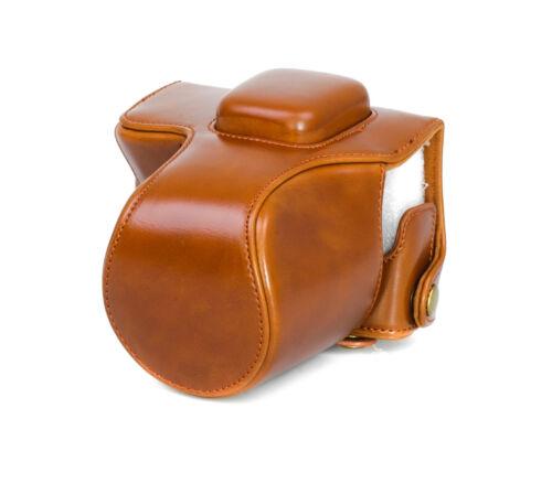 Estuche carcasa para olympus e-pl7//e-pl8 bolso piel sintética cc1374c marrón