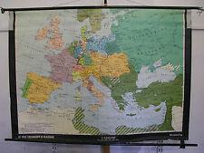 Schulwandkarte Wandkarte Schulkarte Rollkarte Europa Wien 1815 Kongress 195x140c