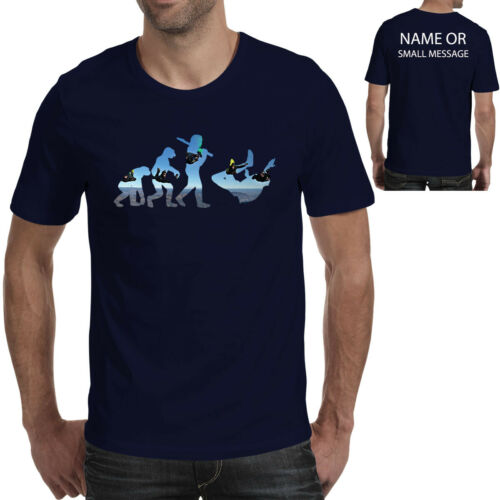 Evolution of Skydiving Personalised T-Shirt Funny Gift Ape to Man Parachuting