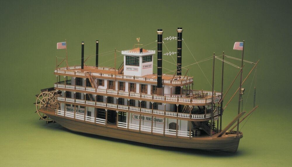 Mississippi Paddle Steamer River Boat 1 50 Large Scale Wooden Kit